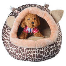 Collapsible Indoor Pet Dog Puppy Cat Warm House Bed Cotton Winter Shelter Cozy Nest Mat Pad for small doggy kitten supply