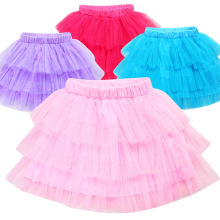 2017 New Baby Girls Skirt Trolls Pettiskirt Layer Fluffy Children Ballet Skirts For Party Dance Princess Girl Tulle Miniskirt