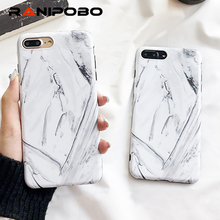 Luxury Marble Stone Texture Phone Case for iPhone 7 8 Plus Soft IMD Mobile Phone Back Cover for iPhone 7 Plus(China)