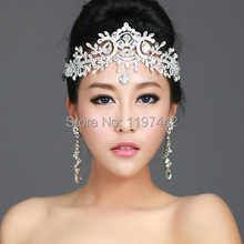 2017 hot sale bridal Hairbands Crystal Headbands women Hair Jewelry Wedding accessories crystal Tiaras And Crowns Head Chain(China)