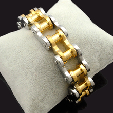 Dolaime 22cm*19mm Cool men heavy stainless steel bike  motorcycle bracelet & Men's Punk fashion bracelet jewelry GB1496