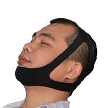 Black Color Snore Belt Anti Stop Snoring Sleep Apnea Solution Chin Support Strap for Woman Man Care Sleeping Tools Jaw