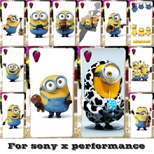 Soft Silicon TPU & Plastic Covers Cases For SONY Xperia X performance F8131 F8132 SONY xperia XP Dora SS 5'' Cases Minions cover