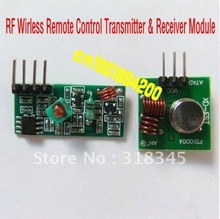 RF wireless receiver module & transmitter module board Ordinary super- regeneration 315/433MHZ DC5V (ASK /OOK) 10Unit/Lot