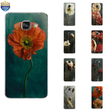Cell Phone Case For Samsung Galaxy A3 A5 A7 (2016) A8 A9 Back Cover Note 4 5 7 Soft TPU Shell Colorful Flower Design Painted