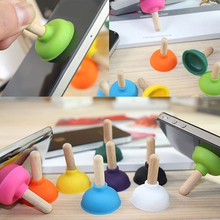 1Pc Mini Pumping Toilet Stand Holder For iPod iPhone 3G 4G 5G Bracket Random ColorDY-fly
