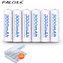 6pcs 2a AA Battery Batteries 1.2V AA 3000mAh Ni-MH Pre-charged Rechargeable Battery 2A Baterias for Camera,clock and Razor