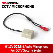 Audio Pick Up CCTV Mini Microphone Sound Monitor Work For Security Camera System Video Audio Recording CS-04A