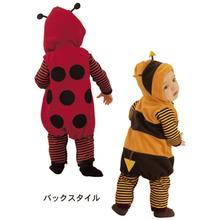 Wholesale 2014 Baby Fleece Rompers Hoodies Ladybug Bees Baby Clothes Jumpsuits TOP QUALITY Hot Sale Newborn Overalls