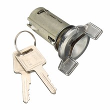 Motor Ignition Key Switch Cylinder Lock with 2 Keys Assembly For Chevy/Buick/GMC Chrome Silver LC1426