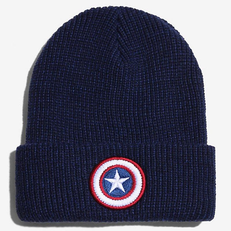 Outdoor Captain America Embroidery Beanie Men Winter Knit Hats Warm Caps Stretch Bonnet Femme Gorros Hip Hop Ski HatsÎäåæäà è àêñåññóàðû<br><br><br>Aliexpress