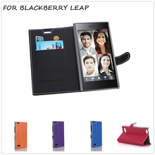 BrankBass 5 colours  Luxury Flip Wallet Book Style PU Leather Case for blackberry leap Leather Case with Card Slots Holder