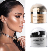 Miss Rose Highlighter Makeup 2 In 1 Single Color Loose Powder & Eyeshadow Glitter Gold Silver Eye Shadow Palette Make Up Kit(China)