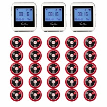 20pcs Call Transmitter Button+3 Watch Receiver Restaurant Pager Wireless Calling System Catering Equipment 433MHz 999CH F3285(China)