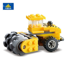 KAZI City Stir Scattered Car Building Blocks Construction Engineering Educational Model Bricks Toys For children Birthday Gifts