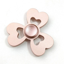 New Pink and Yellow Finger Fidget Spinner EDC Hand Spinner For Autism and ADHD Rotation Time Long Anti Stress Adult Finger Toys