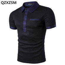 QZXZSM 2017 New Men Polo Shirt Performance Short Sleeves Polos Clothing Famous Camisetas Vetement Jersey Casual Hombre