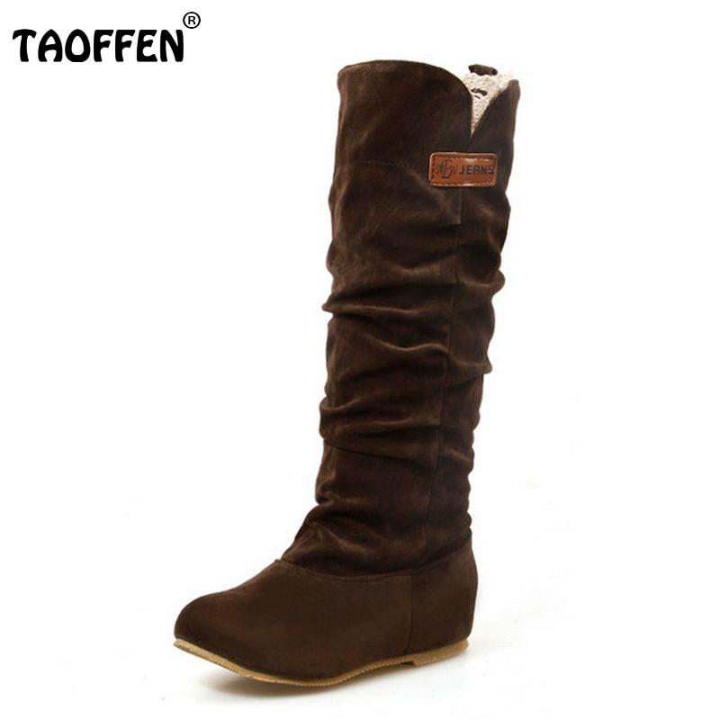 Size 34-46 Women Flat Half Boots Winter Snow Boot Fashion Quality Footwear Warm Botas Feminina Shoes P2394<br><br>Aliexpress