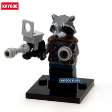 Kaygoo Marvel Super Hero Guardians of the Galaxy Rocket voice Star-Lord Building Blocks Bricks Kid Baby toys Single Sale