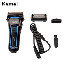 Electric Shaver Reciprocating Double Blades Cordless Rechargeable razor trimmer grommer Men's shaving machine face care G5051(China)