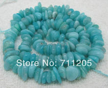 "Free Shipping , 2-5x8mm Peruvian Natural Amazonite Freeform beads 15"" Min.Order is $10,we provide mixed wholesale for all items!"