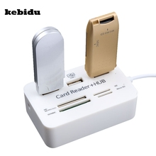 kebidu Super Speed All In One Multi USB Splitter Hub 3 Ports Micro USB Hub Combo 2.0 Card Reader USB Combo for PC Computer(China)