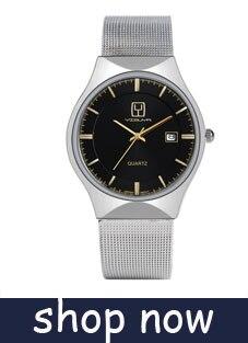 YISUYAแฟชั่นลำลองผู้ชายนาฬิกาอะนาล็อกควอตซ์ฉลามสีดำสแตนเลสตาข่ายวงสร้างสรรค์นาฬิกาข้อมือท... 14
