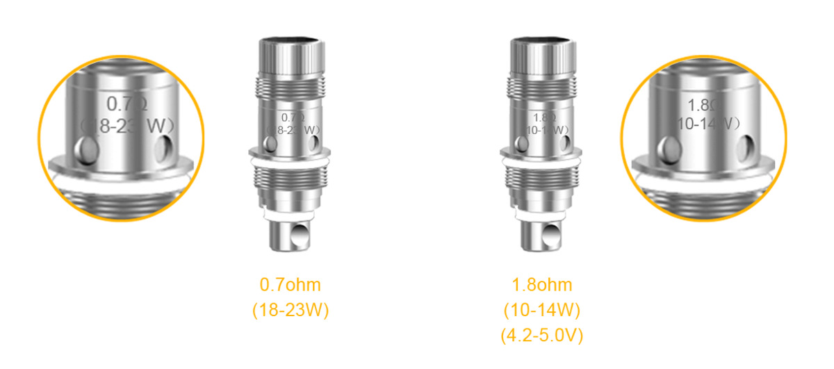 Electronic Cigarette Aspire Nautilus 2 Tank Mouth to Lung MTL Vape Vaporizer 2ML 510 Atomizer Compatible with Zelos Mod and NX30 5