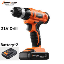 21V new mini rechargeable lithium battery electric screwdriver Cordless electric Charging drill wood bit driver hand power tool
