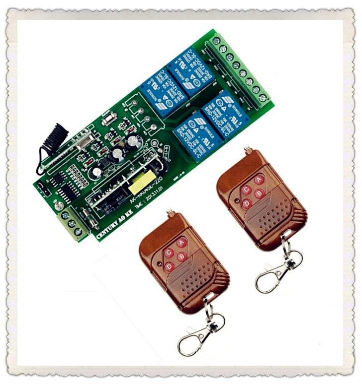 AC85v~250V 110V 230V 4CH Wireless Remote Control Switches 220V Wireless Relay Output Radio RF Transmitter 315/ 433Mhz Receiver<br><br>Aliexpress