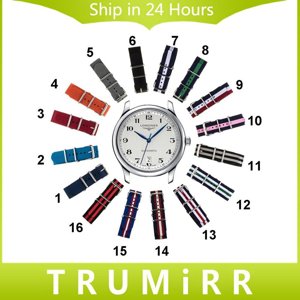 18mm 20mm 22mm Nylon Watch Band + Tool for Longines L2 L3 L4 Master Conquest Flagship NATO Strap Wrist Belt Bracelet Multi Color<br><br>Aliexpress