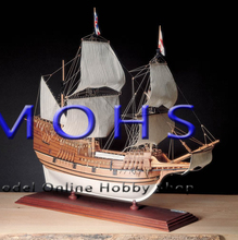 Classic wooden scale sailing boat wood scale ship 1/60 MAY FLOWER scale assembly model ship building kit scale boat ship kits(China)