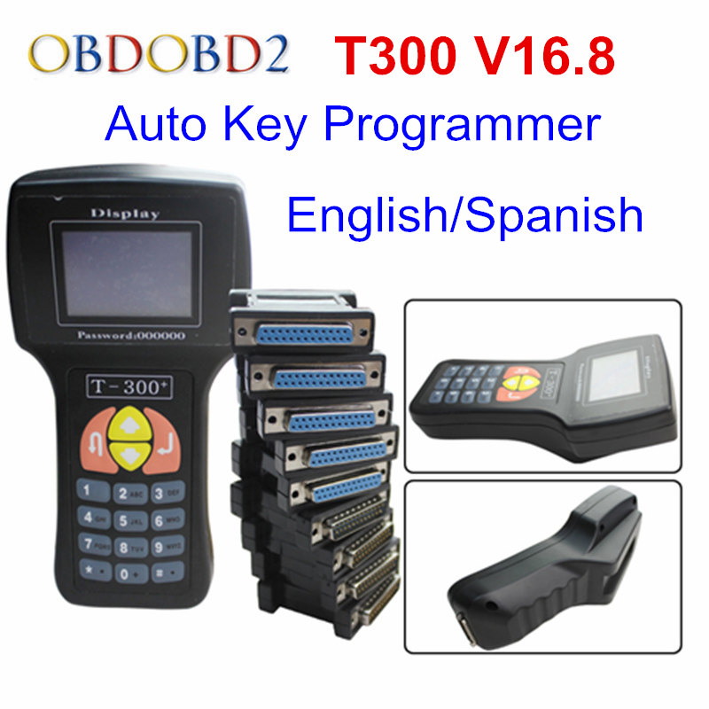 Professional T-300 T300 Auto Key Programmer T Code T 300 Software 2016 V 16.8 Support Multi brand Cars T300 Key Maker(China)