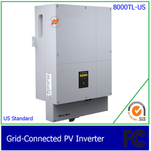 8000W/8KW Two Phase DC AC grid tie solar inverter for US, with 1 MPPT, transformerless, waterproof IP65(China)