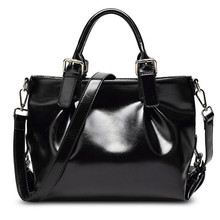 High Quality Leather Designer Women Handbag Ladies Tote Office Bag Large Oil Soft Leather Shoulder Bags Cowhide Black Brown Red