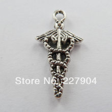 250pcs tibet silver nice Charms 24x12mm
