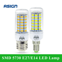 SMD 5730 E27 E14 LED Lamp 5730SMD LED Lights Corn Led Bulb 24 36 48 56 69Leds Chandelier Candle Lighting For Home Decoration