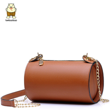Beibaobao Barrel-shaped Women Messenger Bags for Women Bag chain sac a main retro bolsa feminina Shoulder Crossbody Bags  B056/b