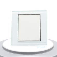 Single Glass Panel For Wall Switch Sockets Luxury UK Standard Decorative Switches(China)