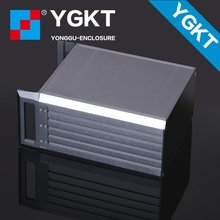 YGH-00229*132-270mm (wxhxd) 3u wall-mounted housing/electronics factory custom aluminum enclosure/extruded aluminum box