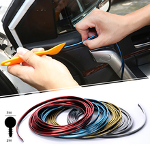 5M/Lot Car-styling Car Door Dashboard Air Outlet Steering-wheel Styling  Interior Decoration Thread Strip Auto Accessories