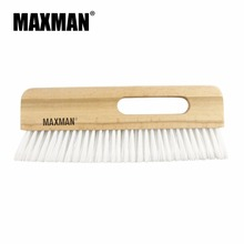 MAXMAN Wooden Polyester Economy Large White Fiber Wallpaper Smoother Brush with Single Hole Beech Wood Handle Wallcovering Brush
