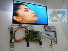 "HDMI+VGA+2AV LCD Controller Kit+10.1 inch IPS LCD B101XAN01.2 1366*768 LED Screen Panel DIY 10.1"" LCD Car PC accessories"