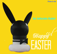OEM 3m Black Easter Inflatable Decorative Inflatable Rabbit