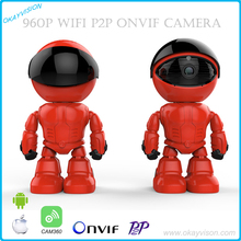 960P Wireless Robot IP Camera WIFI HD PTZ 1.3MP CMOS Audio P2P Onvif Night Vision SD TF Card Slot Security Cam Baby Moniter(China)