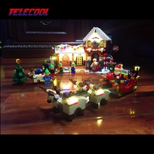 LED Light Building Blocks Toy (Only light set) For Santa's Workshop The Father Christmas' Working Room Winter Lepin 10245