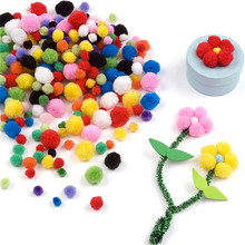 About 100pcs 10mm pompon balls Home Decor Decorative Flowers Intelligence Educational Crafts DIY Toy Accessories Wreaths Garment(China)