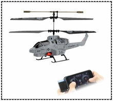 HOT SELLING Iphone Control RC Helicopter UDIRC Cobra Infrared Remote Control Helicopter 3CH Shoot Missile Drone Kit Kids Toys