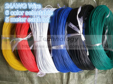 5 metres/lot super flexible 24AWG PVC insulated Wire Electric cable, LED cable, DIY Connect 6 color selectable Free shipping(China)