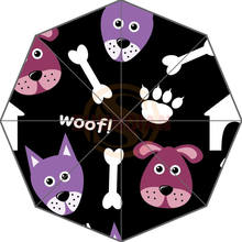 Fashion Design Cartoon Seamless Pattern with Dogs Picture Auto Foldable Umbrella(China)